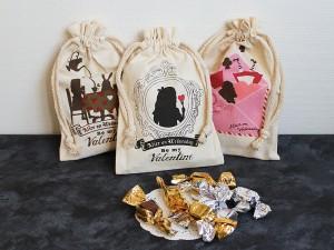 ベルギー産チョコレート入り巾着(バレンタイン)