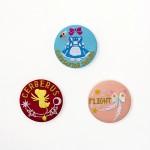 刺繍缶バッジ/各450円+税
